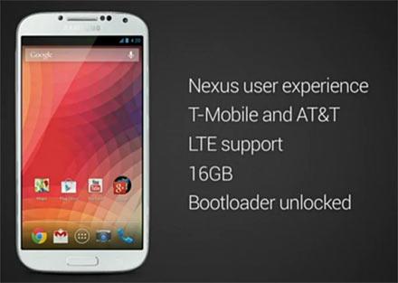 Google-Nexus Samsung-Galaxy-S4